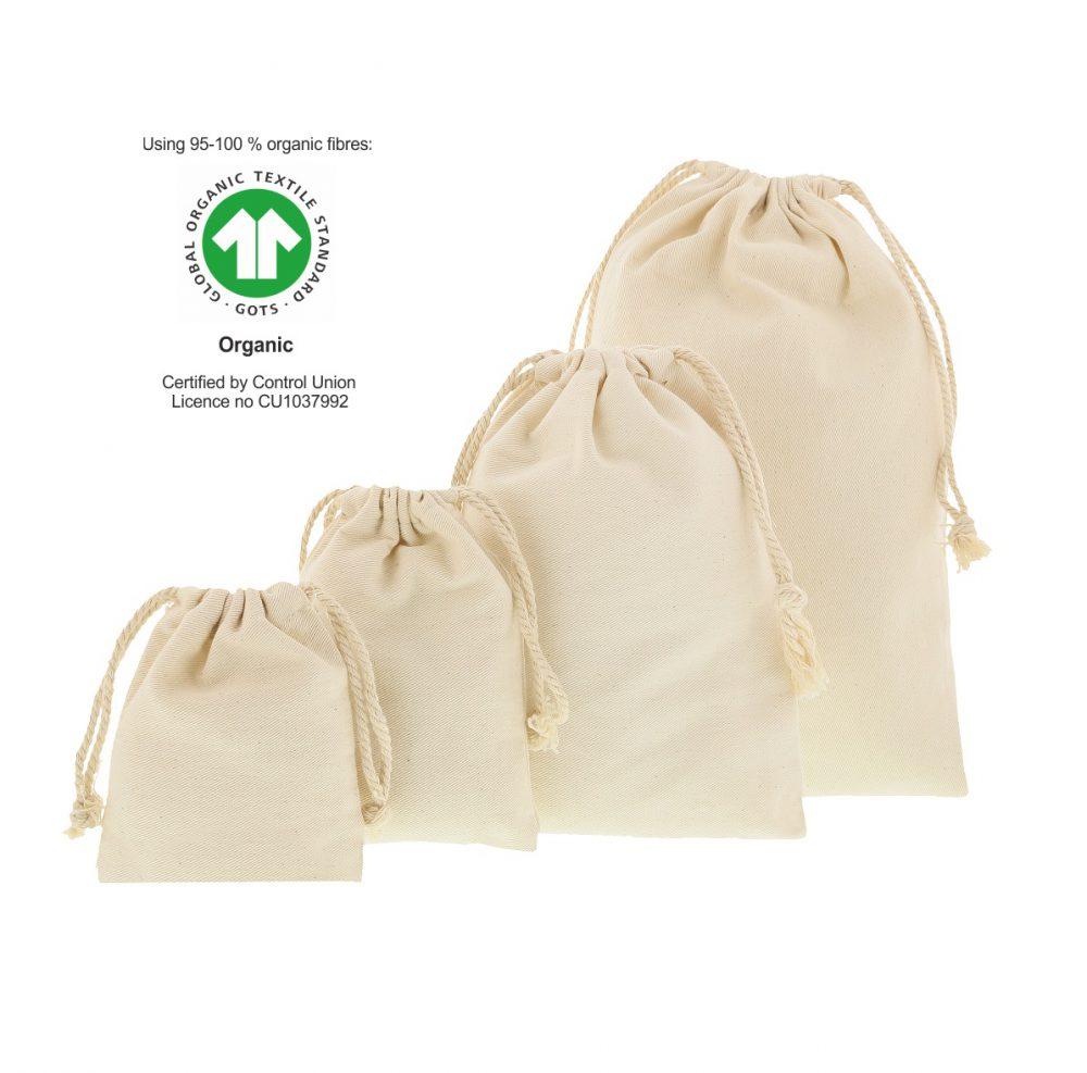 Ökologische Baumwollsäckchen