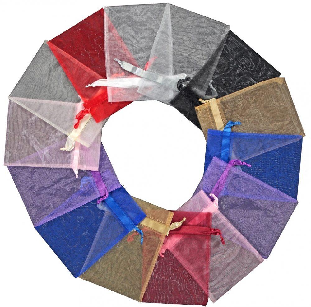 100 Stück Organzabeutel groß 20x28cm verschiedenen Farben