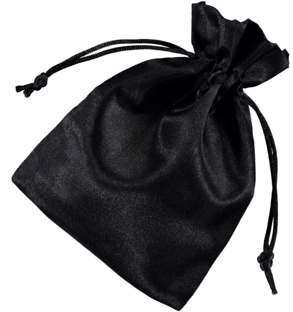 Satinbeutel schwarz 10x15cm 2.0