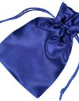 satin drawstring bag 10x15cm blue 2.0