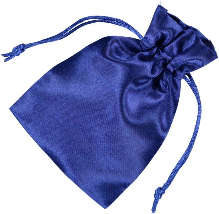 satin drawstring bag 10x15cm blue 2.0