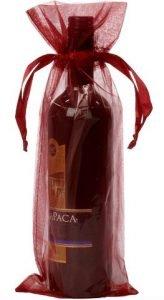 Flaschenbeutel burgunder 15x38cm