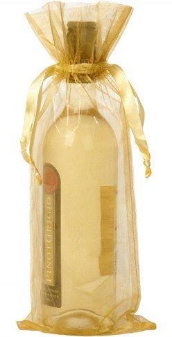 Flaschenbeutel gold 15x38cm