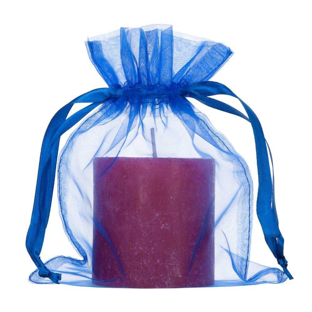 medium organza bag royal blue 15x20cm 2.0