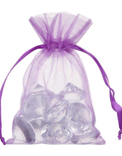 organza 10x15cm violett