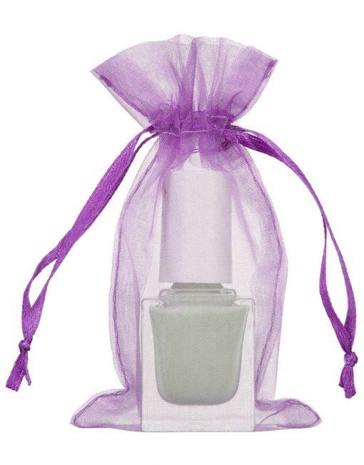 organza 7x12cm violett