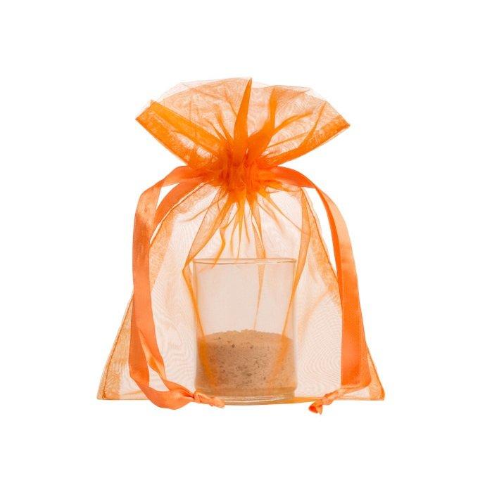 organza sackchen 15x20cm oranje