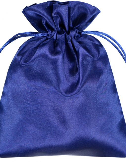 satin beutel blau 15x20cm