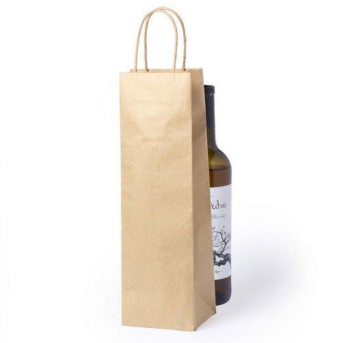 100 Stück Papier Weinflaschen Taschen mit Griff aus Gedrehter Schnur
