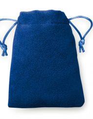 100 Stück Samt Look Taschen 8x10cm in 4 Farben blau