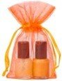extra small organza bag orange 1.0 7x12cm