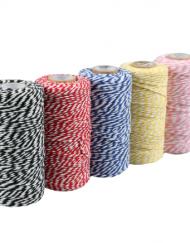 Baumwoll Schnur Verschiedene Farben 1,5mm x 100mtr