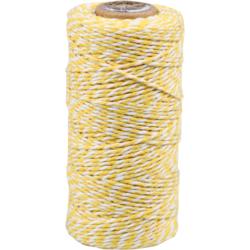 Baumwoll Schnur gelb weiss 1,5mm x 100mtr