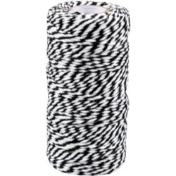 Baumwoll Schnur schwarz weiss 1,5mm x 100mtr