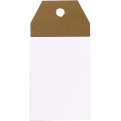 Kraft-Etiketten WeißGold 4,5x9cm