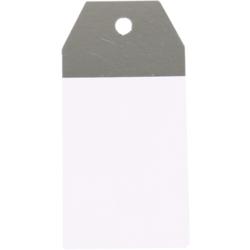 Kraft-Etiketten WeißSilber oder WeißGold 4,5x9cm (2)