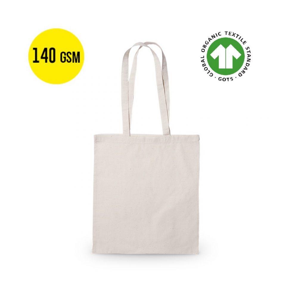 50 Stück Baumwoll Tragetasche Ökologisch140 Gramm Qualität, Größe 37x41cm