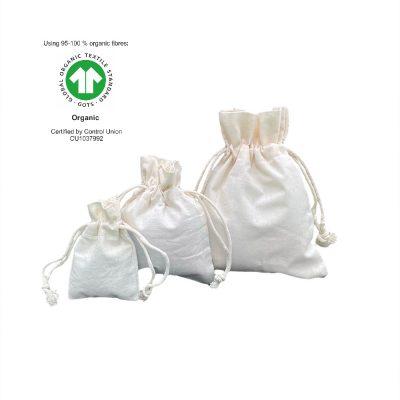 Ökologische Baumwolltaschen 116 gr m2