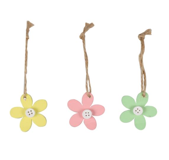 24 Stück hölzernes Blumengeschenketikett mit Seil 5x5cm Wählen Sie Ihre Farbe